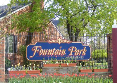 Fountain Park Apartments Entrance Sign